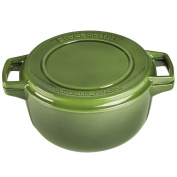 KitchenAid KCPI60CRIG Professional Cast Iron 5.7l Casserole Cookware - Ivy Green