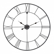 Ceanothe 34458 Forge Wall Clock 80 cm, Black