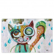 "Cat and Owl Allen Designs ""Cat"" Glass Chopping Board"