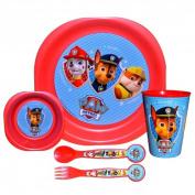 Patrol PaW Children's Crockery Set 5-Piece Set with Mug, Plate Cutlery & AMP;