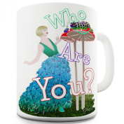 Twisted Envy Caterpillar Asks Who Are You Ceramic Mug