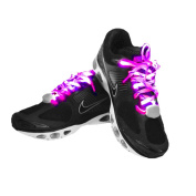 7th Generation Nylon LED Shoelaces Light Up Shoe Laces with 10 LED lamp beads, Brighter & Softer Than Common LED Shoelace