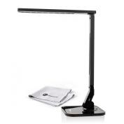 TaoTronics LED Desk Lamp Elune Touch Control, 5-Level Dimmable (4 Lighting Modes, Flexible Arm, 1-Hour Auto Timer, 5V/1A USB Port, Foldable Lamp) - Black