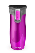 Contigo West Loop Autoseal Travel Mug 2.0 - New Model With Lid Lock - 470ml (Raspberry) - OTHER COLOURS AVAILABLE