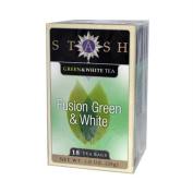 Stash Tea Company, Fusion Green & White Tea, 18 Tea Bags, 30ml