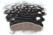 Human Virgin Hair Body Wave 33cm x 10cm Lace Frontal Closure Swiss Lace Free Part Hair Piece