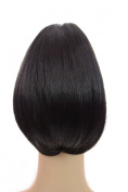 Bouffant Pony   Brown/Black Cropped Voluminous Ponytail   Claw Grip Attachment