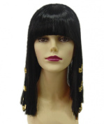 Xcoser Beautiful Black Cosplay Cleopatra Wig For Film Cosplay