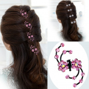 Cuhair(tm) 10pcs Wedding Rhinestone Crystal Women Girl Hair Clip Pin Claw Barrettes Accessories