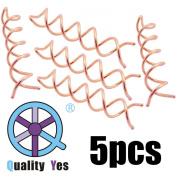 QY 5PCS Pink Gold Colour Spin Pin Sleek Bun Messy Bun Maker Simple Style Mini Pin Hair Updo Accessory