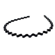 Top-ishop New Wavy Metal Sports Men's Women's Hair Hoop Band Headband-colour in Black+free Top-ishop Cable Tie