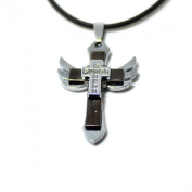 Wensltd Clearance!1 Pair Men's Cross Angel Wing Pendant Necklace