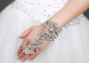 Diamond Bracelet Bride Bridal Wedding Accessory Hand Chains Band Wear Rhinestone Jewellery Dress Accessories