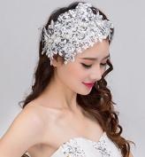 Lace Rhinestone Pearl Bride Bridal Wedding Accessory Hair Head Band Wear Jewellery Headdress Headbands Tiara Headpieces