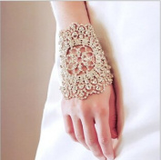 Diamond Bracelet Bride Bridal Wedding Accessory Hand Chain Band Wear Rhinestone Jewellery Dress Accessories