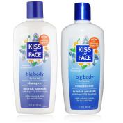 Kiss My Face All Natural Organic Big Body Shampoo and Conditioner With Moroccan Argan Oil For Hair, Vitamin E, Sage, Lavender, Green Tea, Chamomile and Eucalyptus For All Hair Types, 330ml each