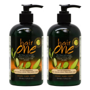 """Hair One Hair Cleanser and Conditioner for Colour Treated Hair with Jojoba 355ml / 12oz """"Pack of 5.1cm"""