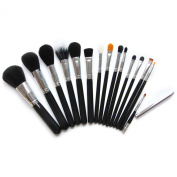 Kolight® 15pcs cosmetic Eyeliner Face Foundation Concealer Lip Cheek Makeup Brush Sets