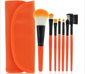 Kolight® 7pcs Fashion Mini Travel Cosmetic Makeup Make up Brushes Set with Pouch Bag Case