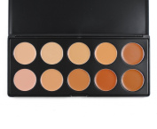 Happy Will Professional 10 Colour Concealer Camouflage Foundation Makeup Palette Contour Face Power Foundation Cream with Stylus