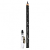 e.l.f. Cosmetics Shimmering Metallic Eyeliner Pencil Includes a Convenient Sharpener Cap for Easy Use - Black Bandit