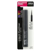 NYC Long Lasting, Rich, Creamy Liquid Eye Liner with Precision Brush Applicator