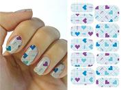 Full Wrap Nail Art Water Transfer Decal Sticker KG014A Nail Sticker Tattoo - FashionDancing