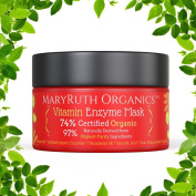 ORGANIC VITAMIN ENZYME MASK by MARYRUTH ORGANICS - Unscented Highest Purity 74% Organic Ingredients, Vitamins & Glycolic Acid gently remove dead skin cells to allow new nourishing skin tissue to emerge. Organic Enzymes - 120ml