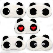 Funny Panda eye shade sleeping mask cover travel holiday flight heart cheek fluffy