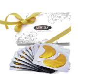 Lifting Anti-age Collagen Eye Mask with Bio-gold and Hyaluronic Acid *VALUE PACK* 10 pairs of Re-usable Collagen Hydrating Under the Eye Patches