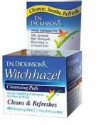 T.N. Dickinson's Hazelets Witch Hazel Pads 60 ea,3 pack