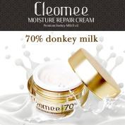 Cleomee Moisture Repair Cream 50ml, 70% Donkey Milk, Anti-wrinkle, Whitening