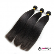 Uniwigs® Brazilian Virgin Human Hair Extension Natural Straight Mixed Length 36cm 41cm 46cm 3pcs 300g Per Lot Unprocessed Natural Colour