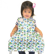 BIB-ON, A New, Full-Coverage Bib and Apron Combination for Infant, Baby, Toddler Ages 0-4+. One Size Fits All! New Training Button Snap in Addition to Neck Velcro!