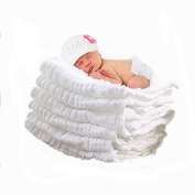 Aoming Newborn Muslin Cotton Warm Baby Bath Towels White Also for Baby Blanket