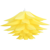 Lightingsky Ceiling Pendant DIY IQ Jigsaw Puzzle Lotus Flower Lamp Shade Kit with 4.6m Hanging Cord