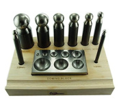 Doming Block and Punch Set Made of Steel 10pc Dapping Dps02