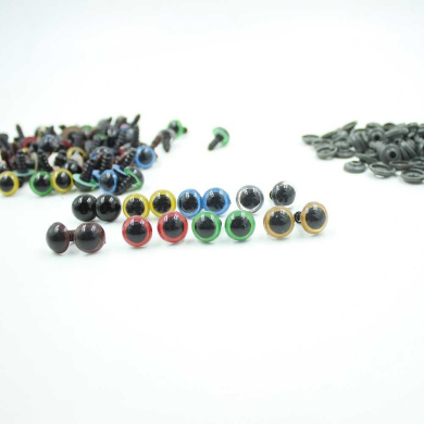 12mm 8 Colours Mixed Plastic Safety Eyes for Teddy Bear Doll Animal Puppet Craft