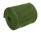 Kel-Toy Burlap Ribbon with Woven Wired Edge, 4 x 10 yd, Green