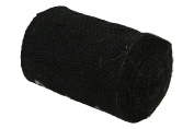 Kel-Toy Burlap Ribbon with Woven Wired Edge, 6 x 10 yd, Black