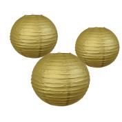 AllHeartDesires Gold Hanging Paper Lantern Lampshades Wedding Birthday Anniversary Party Decoration