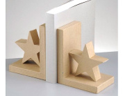 Paper Mache Star Bookends to Decorate
