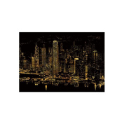 Lago Scratch Paper Famous City Night View Series Hong Kong, Art Paper