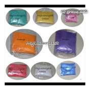 80 Grammes Mica Colourants Lot of 8 Cosmetic 10g Jars Soap and Craft Colour Pigment Powders Teal Yellow Pink Orange Purple Bubblegum White Blue
