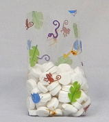 Jungle Animal Cellophane Bags, Pack of 25 Great for Baby Showers and Birthday Parties