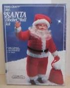 Vintage Christmas Fibre Craft Mr. Santa Crochet Doll Kit