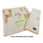 della Q Combo Knitting Case for Straight & Double Point & Circular Knitting Needles; NLG Natural 101-B-NLG