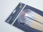 Jerry Q Art 12 PC Brown Synthetic Paint Brush Set For Acrylic, Watercolour and All Media JQ59831