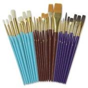 Multimedia Paint Brush Set, 24Pcs, Assorted, Sold as 1 Set, 24 Each per Set