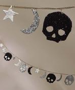 Bethany Lowe Glitter Skull Moon Sar Garland